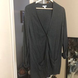 Longer length cardigan with pockets
